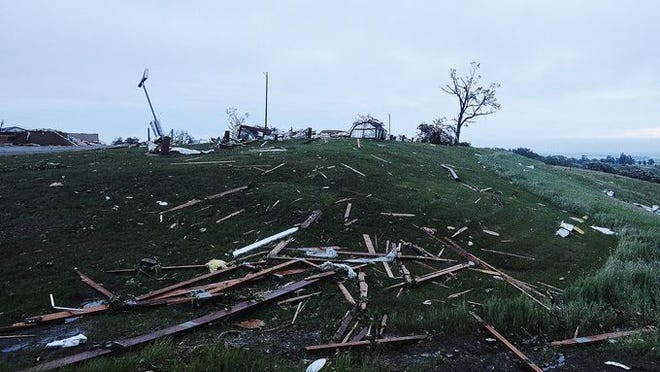 A tornado ripped through Wessington Springs on Wednesday, June 18, 2014.