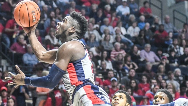 Ole Miss guard Terence Davis has flirted with foul trouble recently.