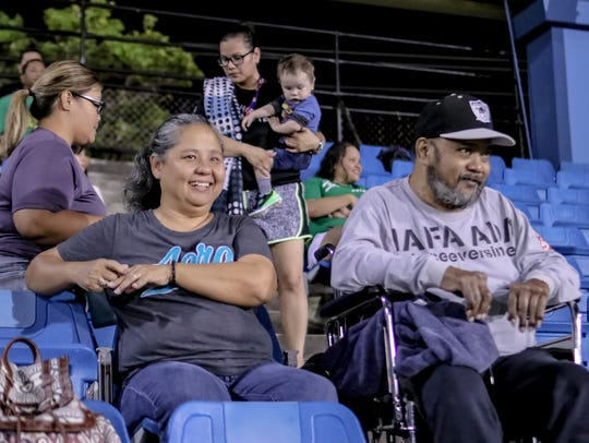 Baseball fans enjoys the game between Orioles and Astros at opening day of the 2018 Guam Major League season in this May 11 file photo.