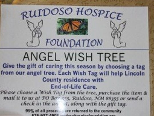 To donate to the Ruidoso Hospice Foundation , cal 575-937-4908