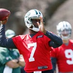 """New York Jets quarterback Geno Smith is uncertain what the NFL draft might bring, but the third-year quarterback believes the New York Jets are still """"my team."""""""