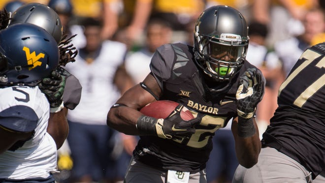 Running back Terence Williams (22) and Baylor have been untouchable during the 2015 season.