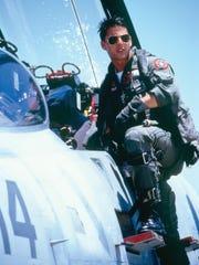 "Friday: ""Top Gun,"" starring Tom Cruising, screening"