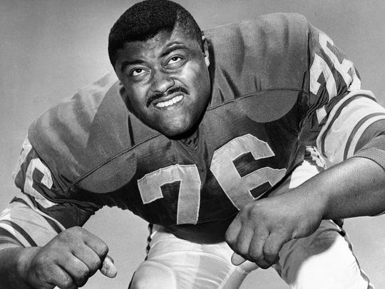 Football opened doors for Rosey Grier at Penn State and then in the NFL. His popularity helped him serve others more readily, which he still says is his life's mission.