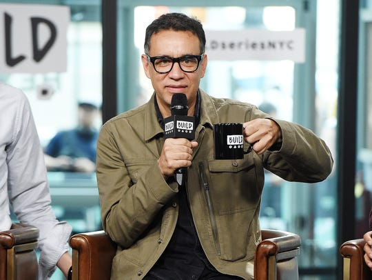 Fred Armisen promotes 'The LEGO Ninjago Movie' at Build