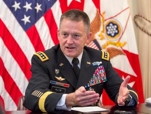 Gen. Daniel Allyn, the Army vice chief of staff.