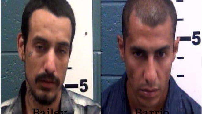 Issacc Bailey, left, and Conrad Barrio