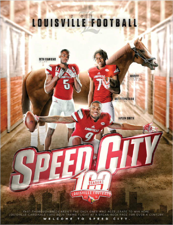 justify is on louisville s media guide after audible by bobby petrino rh usatoday com