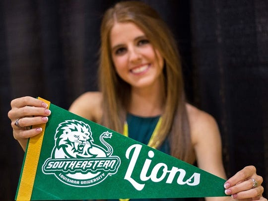 Lindsey Hutcheson has signed to continue running at Southeastern.