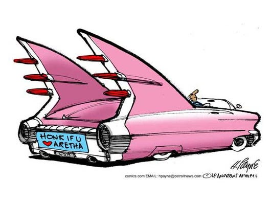 CAR-toon: Pink Caddys for Aretha