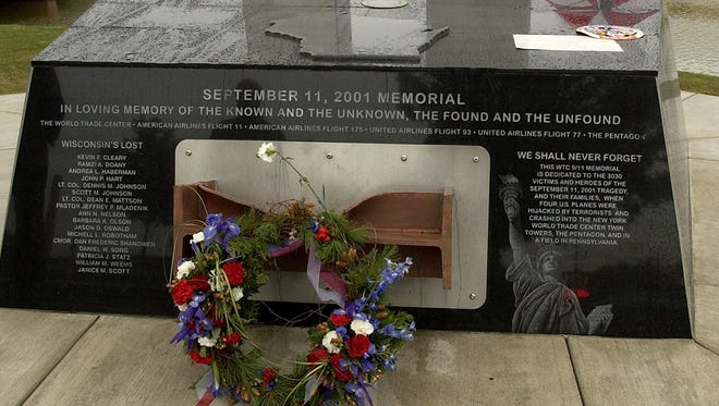 The Sept. 11 memorial in Green Bay.