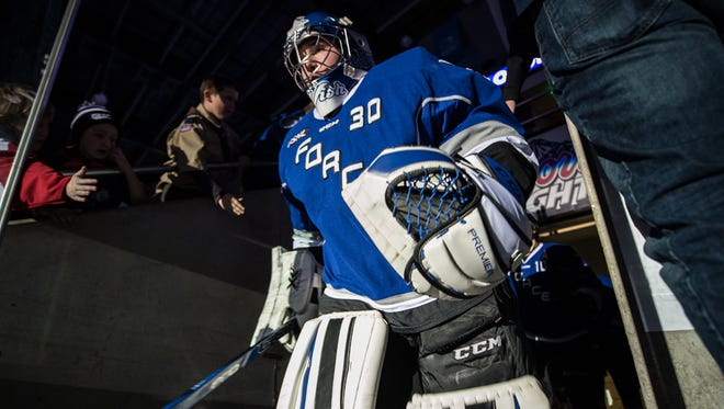 Ashwaubenon native Ryan Wischow will start at goalie this weekend when the Fargo Force plays the Green Gamblers on Friday and Saturday nights at the Resch Center.