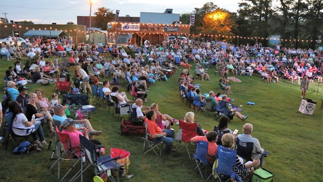 The crowd enjoyed an earlier concert this summer at The AMP.
