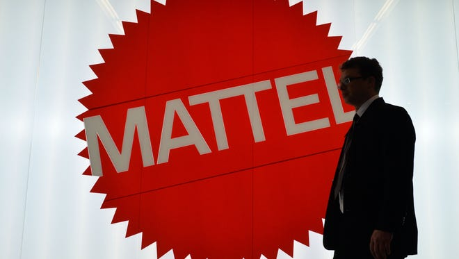 The Mattel sign is pictured at the Nuremberg International Toy Fair (Nuernberger Spielwarenmesse) on January 29, 2014 in Nuremberg, Germany.