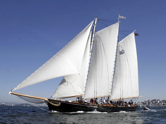 The Schooner America, a 139 foot replica of the vessel that started the America's Cup, stops off at Haverstraw Marina on May 14 and 15.