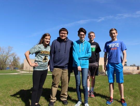 After a University of Wisconsin-Oshkosh Math Competition,