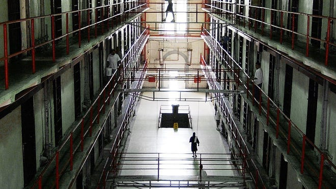A housing unit at the Missouri State Penitentiary is shown June 26, 2003, in Jefferson City. The prison closed in 2004 but is now open seasonally for public tours.