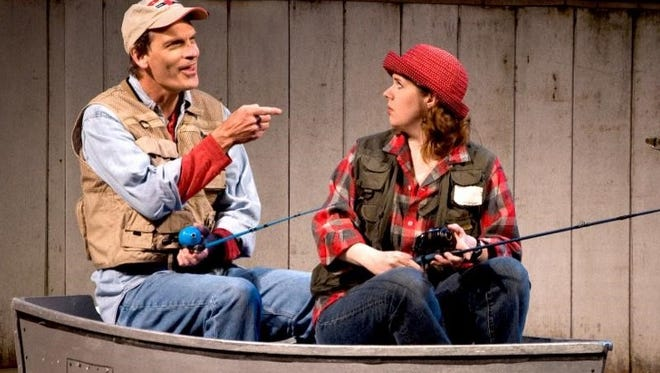 "Jeff Herbst and Molly Rohde in a scene from the 2013 production of ""Muskie Love"" at Northern Sky Theater. The musical comedy returns to Northern Sky for its fall 2018 season."