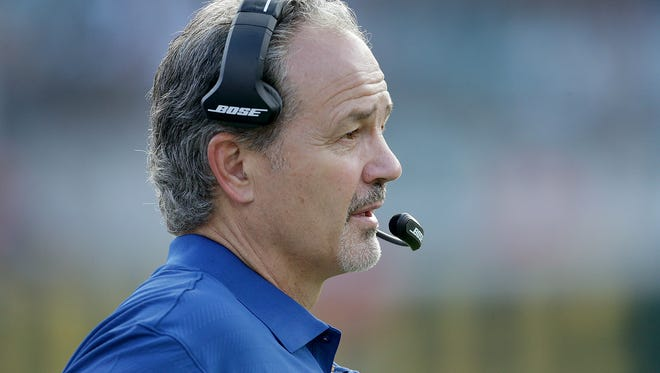 Indianapolis Colts head coach Chuck Pagano looks on from the bench in the fourth quarter of their game at EverBank Field Sunday, December 13, 2015, afternoon  in Jacksonville FL.