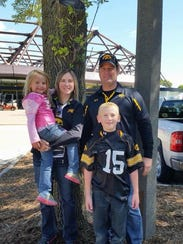 Kevin, Amy, Sterling, and Adrianna Sharp of Creston