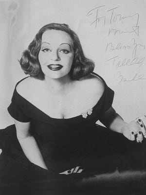 Tallulah Bankhead was one of the big names of the 1950s at Matunuck. This is a photo she autographed for former theater producer Tommy Brent sometime before her death in 1968, although she never appeared in one of his productions at Theatre-by-the-Sea.
