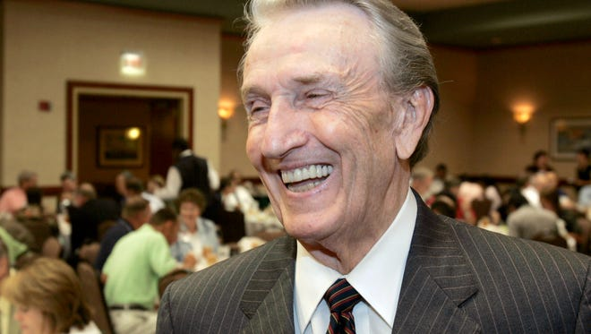 "In this Friday, Aug. 25, 2006, photo, former U.S. Sen. Dale Bumpers, D-Ark., laughs after an interview before addressing an Energy and Value-Added Products from Biomass workshop in Little Rock, Ark. Bumpers, a former Arkansas governor and U.S. senator who earned the nickname ""giant killer"" for taking down incumbents, and who later gave a passionate speech defending Bill Clinton during the president's impeachment trial, died Friday, Jan. 1, 2016, in Little Rock, Ark. He was 90."