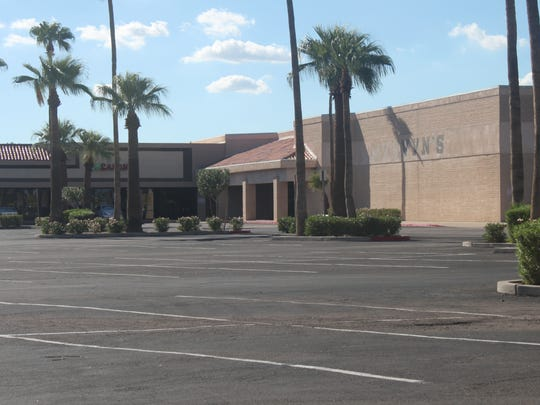 After anchor retailer Mervyn's closed several years ago, more businesses in the plaza on the southwestern corner of Elliot and Alma School roads began leaving, one manager noted. The plaza has several open businesses but significant empty space.