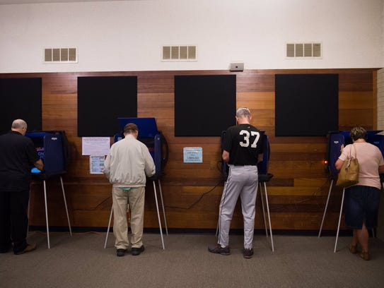 Greenville County residents cast their vote on Tuesday,