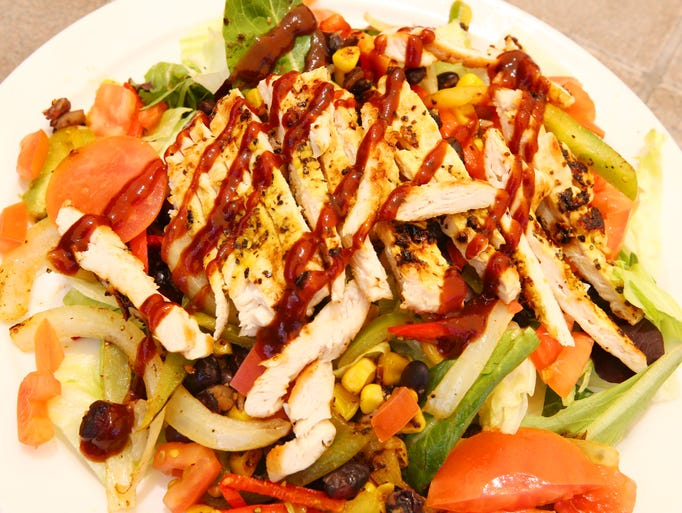 Barbecue chicken salad from the open-to-the-public