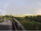A rainbow follows the July 15 storm