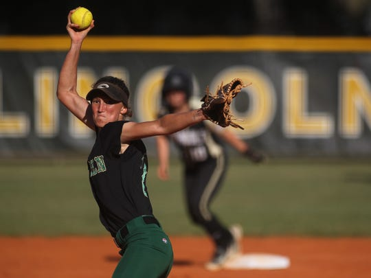 Lincoln senior Kelsie Rivers is finishing off her third year as the Trojans' starting pitcher and fourth as a starter overall, having played second base as a freshman. She's headed to College of Central Florida.