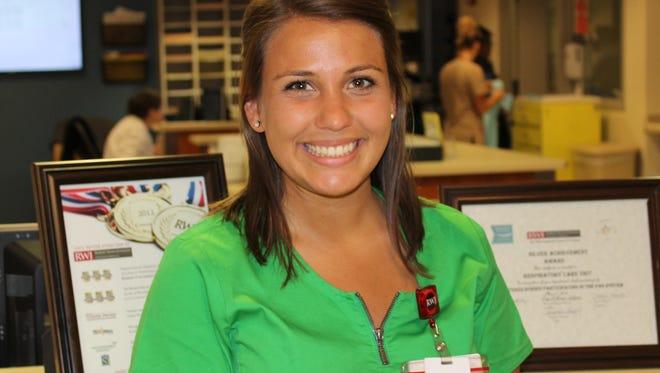 A nurse at Robert Wood University Hospital in New Brunswick, Courtney Donlon helped save the life of a fellow JetBlue passenger on a flight Monday.