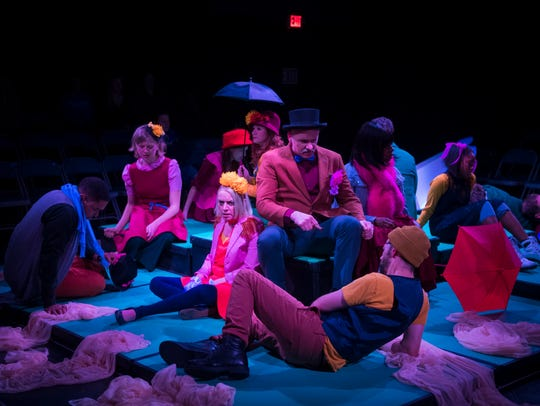 "The ensemble of City Theatre Company's ""Sunday in the"