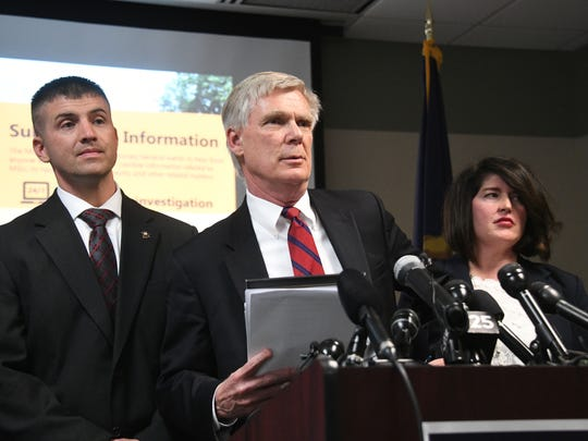 "Special Prosecutor William Forsyth outlined the first charges in the ""ongoing investigation"" during a Tuesday press conference at Attorney General Bill Schuette's office."