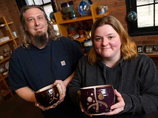 Husband-and-wife potters Ryan Lack and Kelly Haehl of Brighton will be visiting artists April 14 from 11 a.m.-4 p.m. at Pewabic Pottery for its Second Saturday event.