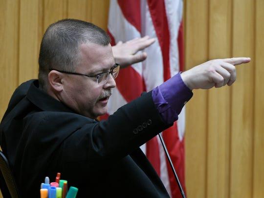Lead investigator Allen Merritt testifies about bullet