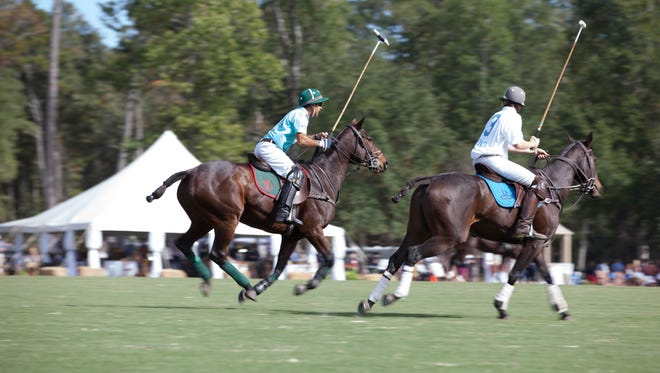Polo players put their skills on display at last year's Polo Under the Oaks event.