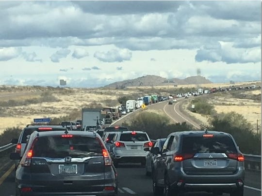If you've ever driven on Interstate 17 north of Phoenix on a weekend, this has probably happened to you.