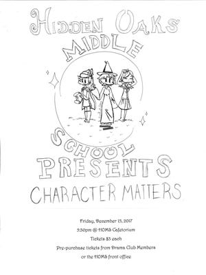 Drama club students Emily Atkinson and Amanda Ferrier designed the flyer and tickets.