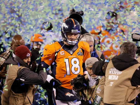 Manning took his second Super Bowl loss on Feb. 2, 2014, when his Broncos were beaten by the Seahawks.