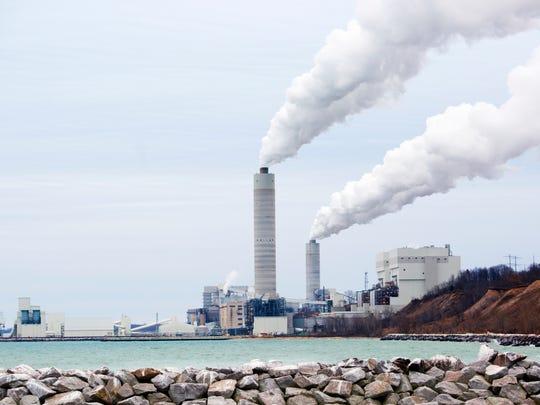 We Energies' coal-fired power plant in Oak Creek.