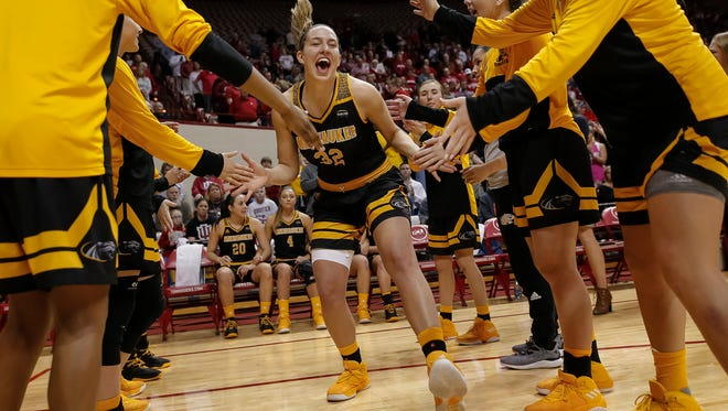 Oak Creek High School graduate Steph Kostowicz of UW-Milwaukee capped a huge career with the Panthers this past winter.
