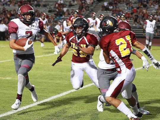 Mt Whitney's Jose Cisneros, 2, charges upfield as Tulare