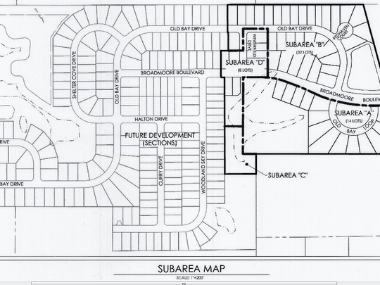 This is what the fully-developed subdivision could