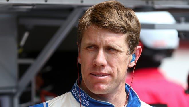 Will Carl Edwards be able to win back-to-back spring races at Bristol Motor Speedway?