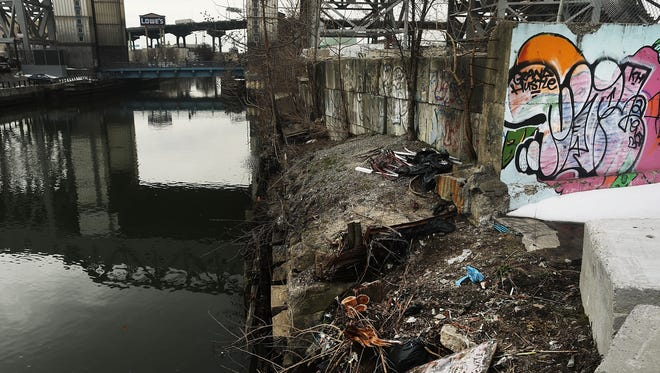 The Gowanus Canal, a designated federal Superfund site, is located in Brooklyn, N.Y. Area residents, city officials and environmental activists are concerned that President Trump's proposed 2018 budget cutting Superfund 31% would slow cleanup efforts.