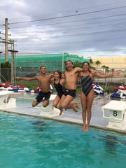 Team Guam swimmers representing the island at the 17th