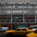 The New York Times building in New York City. The Times announced plans to cut approximately 100 jobs from the newsroom today, with the company announcing it will start with buy-out packages before moving to layoffs.