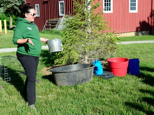 Aly Rumer of the Sandusky County Park District shows