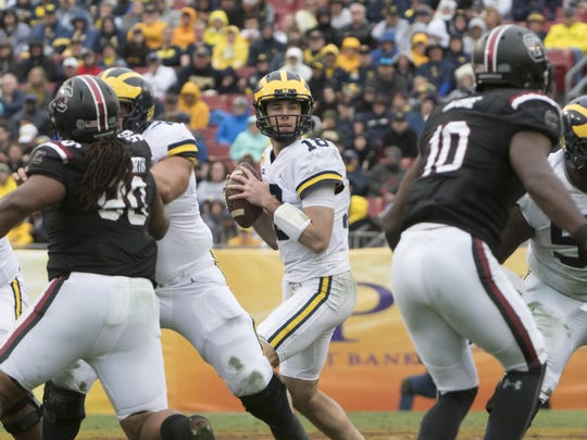 Michigan's Brandon Peters likely will be part of a